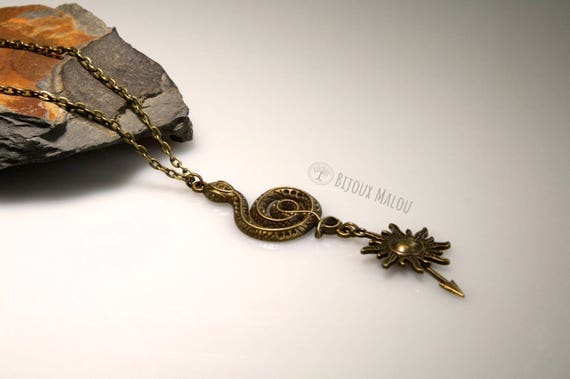 sand snakes necklace martell game of thrones jewellery house