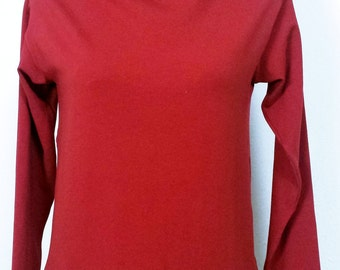 boatneck tshirt in organic cotton with long sleeves