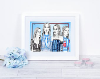 Erdem SS16 RTW/ Fashion Illustration / Fashion Print