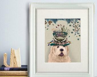 Wheaten Terrier gift - Milliners dog Wheaten Terrier art print Wheaten Terrier print Wheaten Terrier dog decor Wheaten Terrier lover UK shop
