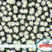 BLACK & WHITE DAISY Fabric by the Yard Fat Quarter Floral Fabric Daisy Flower Fabric Quilting Fabric Apparel Fabric 100% Cotton Fabric w1-12