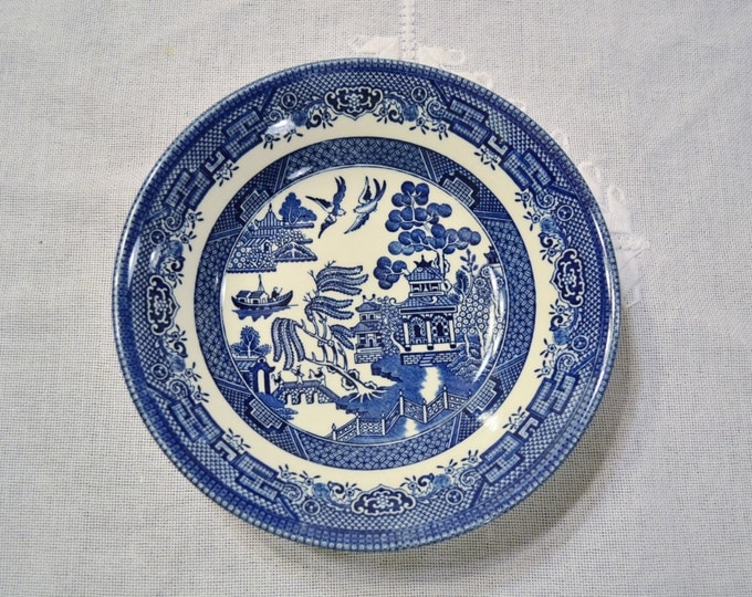 Vintage Churchill Blue Willow Cereal Bowl Blue and White Asian Design England  PanchosPorch