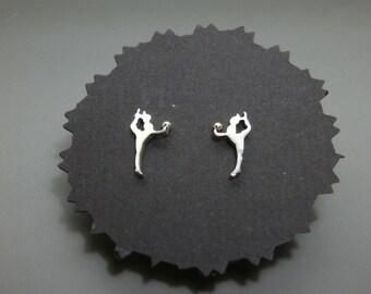Rhythmic gymnastics ball earrings with silver