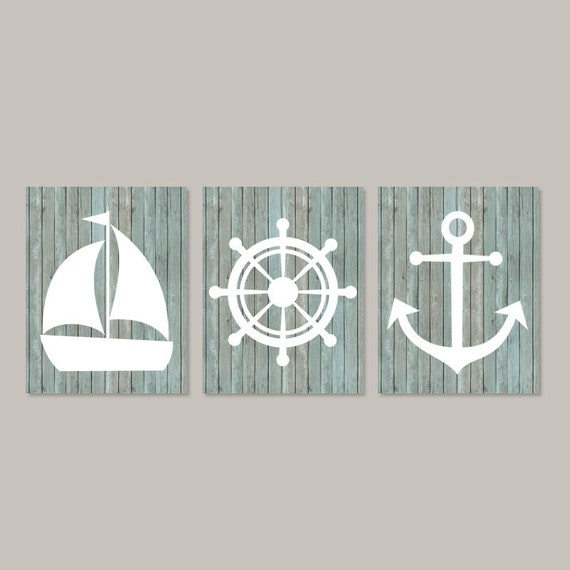 Nautical Wall Decor Coastal Wall Art Beach By LovelyFaceDesigns