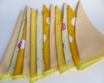 Fabric mixed pattern summer fete bunting