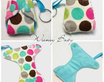 Dots print Basic Cloth Diaper Keychain diaper ornament, Diaper key chain diaper key fob