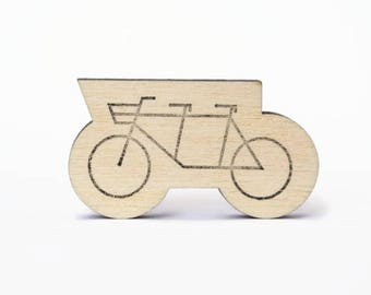 Tandem bike stamp, rubber stamp, dutch bike stamp, bicycle stamp, diy craft supplies, wedding, two person bike, studio maas