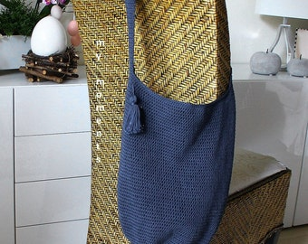 Crochet BAG Cotton blue