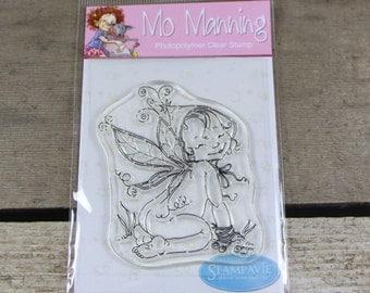 Stampavie - Mo Manning clear stamp - photopolymer stamp - clear stamp - fairy stamp - acrylic stamp