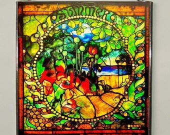 Louis Comfort Tiffany - Summer, Stained glass