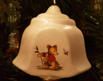 Sweet 'Baby Bear' Bell Christmas Ornament