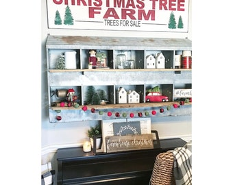 Large Christmas Tree Farm - STENCIL ONLY (as seen on Instagram @ourfauxfarmhouse)