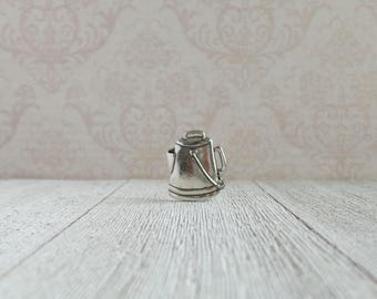 Aluminum Coffee Pot Pin -  Camping Coffee Pot - Lapel Pin - Tie Tack or Lapel Pin