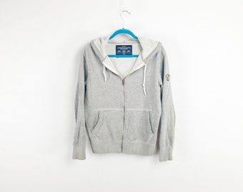 Baggy Grey Zip Up Hoodie