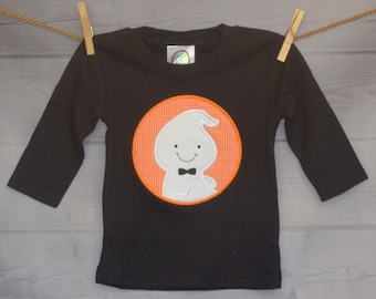 Personalized Halloween Ghost Patch Applique Shirt or Onesie for Boy or Girl