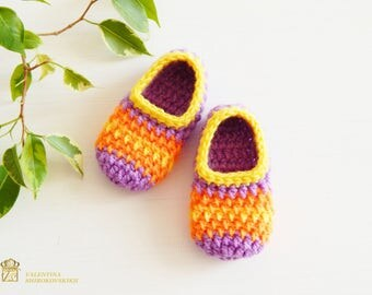 personalized baby gift Crocheted Baby Slippers, Booties, Shoes. Infant shoes, Baby dress shoes. Baby ballerina shoes. Princess baby shoes