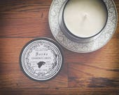 Sansa Stark Candle   Game of Thrones   Lemon Cakes   8 oz Soy Candle in black tin, geeky gift, dessert scent, lemon bars