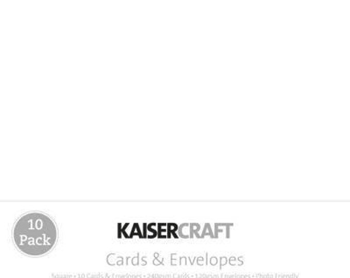 Pack of 10 Blank White Square Cards