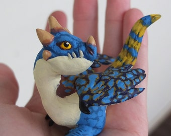 Ready to Ship! Little Stormfly - How to Train Your Dragon Nadder - OOAK Paper Clay Dragon Animal Sculpture