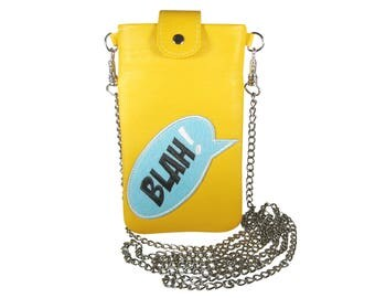 """Bodybag IPhone case leather IPhone accessory patch leather individualized bag IPhone 6 plus 7 plus bag Smartphone bag mobile bag """"Emma"""""""