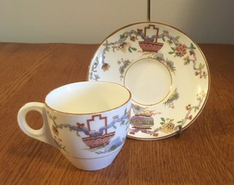 Vintage University of Toronto Womens Residence Royal Worchester Demitasse Cup and Saucer