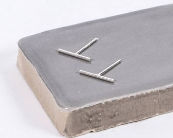 Sterling Silver Bar Studs