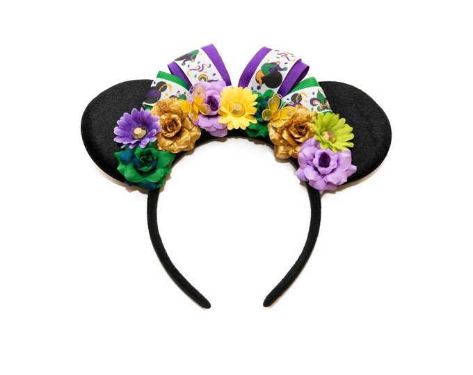 Mardi Gras Mouse Ears Headband