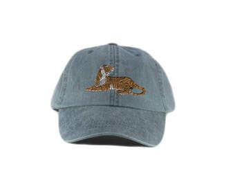 Tiger embroidered hat, baseball cap, dad hat, mom cap, wildlife, nature hat, animal, hunting, tiger cap, big cat, tiger lover, father's day