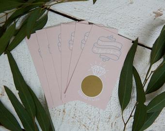 Scratch Off Bridal Shower Game Cards - Set of 20