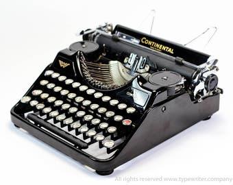 Continental Klein Conti Working Typewriter - 1930s German typewriter - English QWERTY typeface - working refurbished typewriter