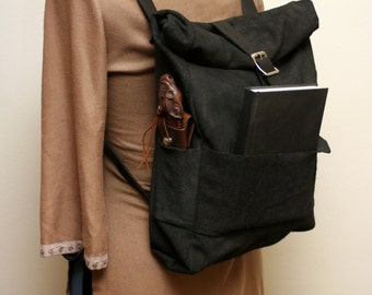 Leather Rolltop Bag
