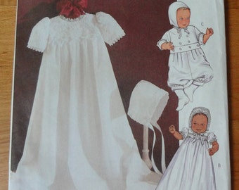 UNCUT Butterick Infants Dress, Jumpsuit and Hat PATTERN One Size (Sm-Med-Lg-Xlg) 2003