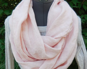 SALE! All natural linen scarf, the complection scarf,100% linen scarf infinity scarf,gift for her,accessories,teacher gift,college student