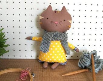 Otto Cat ragdoll - Stuffed animal - Cloth cat - Soft toy