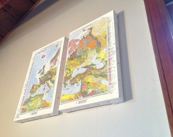 Two Geologic Maps Of Europe and Eurasia