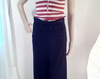 1960s USA Navy Issue Wool Sailor Pants
