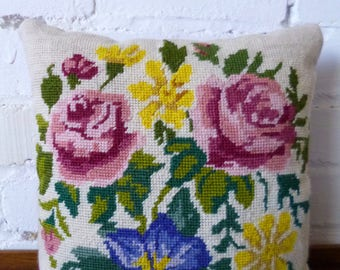 Floral Vintage Tapestry Cushion