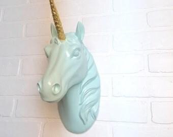 Unicorn-24 Color Options/Wall Decor/Nursery/Unicorn Wall Decor/Faux Taxidermy/Animal Head/Horse/White Unicorn/Modern Decor/Nursery Decor