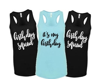 It's My birthday fitted tank top, birthday squad fitted tank XS-2XL, 30th birthday shirt, 21st birthday shirt, birthday shirt, 30th birthday