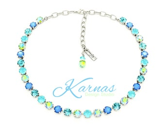 CUCKOO FOR COLOR 8mm 39ss Crystal Necklace Made With Swarovski Elements *Pick Your Finish *Karnas Design Studio *Free Shipping