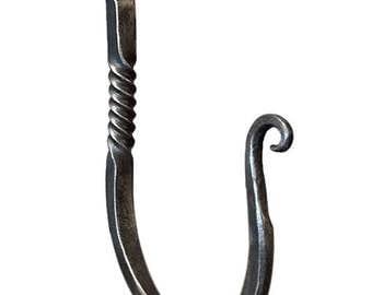 Large coat hooks, hand forged hook