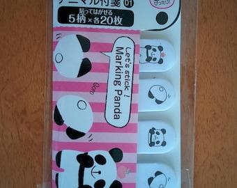 Cute Panda Sticky Mini Memo Bookmark Notes Post-it Labels - 100 sheets