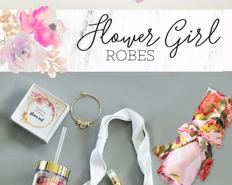 Flower Girl Robes - Flower Girl Gift Ideas - Girls Robe - Kids Robes - Child Robe -Girls Spa Party Favors -Spa Party Robes (EB3153-LPK) PINK