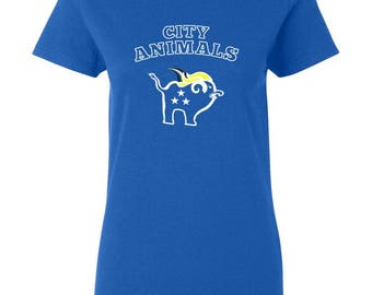 Womens City Animals TShirt for Coach, Bench Player, Star Player