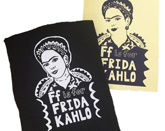 Frida Kahlo Shirt- Feminist Shirt: Frida Kahlo Gift Set w/ Screen Print