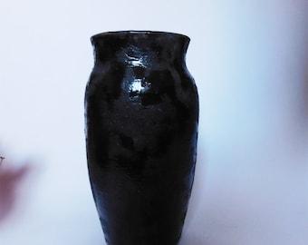 Black Lava Vase