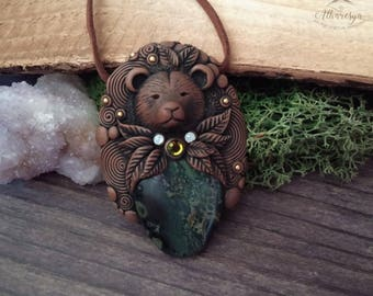 Kambaba Jasper Totem bear