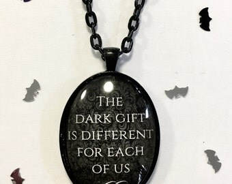 Interview With the Vampire photo movie pendant black necklace