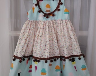 Ice Cream  with Sprinkles Please ! dress Size 4 T