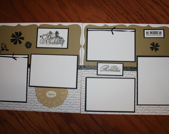 Scrapbook pages   Etsy. Premade Wedding Scrapbook. Home Design Ideas